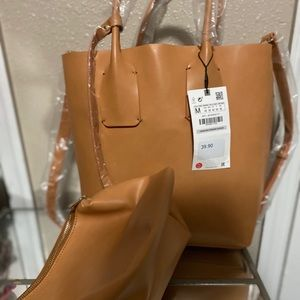 Zara Shopper with accessories bag-New Tags